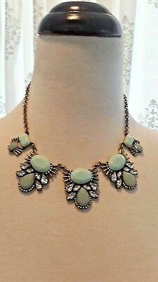 Gorgeous Joss   Main Green Wintergreen Bib Necklace W  Anthropologie Flair