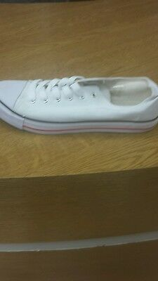 Brand New (no box) Mens No Sense White LACED Fashion Trainers SIZE UK 10 / EU 44