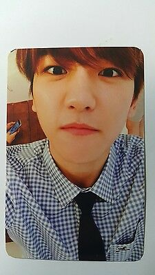 EXO BAEKHYUN Official Photocard EXODUS White Ver 2nd Album Photo Card 백현