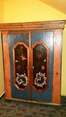 barockschrank bauernschrank originale Bemalung