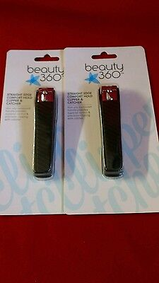 Beauty 360 Straight Edge Comfort Hold Clipper   Catcher  New Times 2