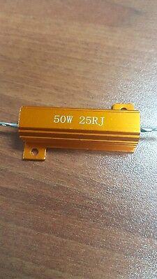 - 50 Watt Power 25 Ohm 5% Aluminum Casing Wire Wound Resistor Ring video door bell