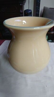 Longaberger Pottery Falling Leaves Butternut Flower Utensil Vase