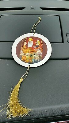 Sikh Guru Nanak Gobind Singh Ji 10 Gurus Double Sided Cd Style Disc Car Hanging