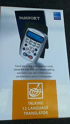 Brookstone Talking 12 Language Translator Brand New In Box