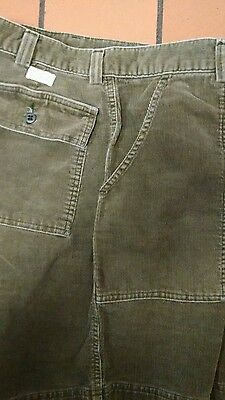 POLO RALPH LAUREN CORDUROY SHORTS MENS 33 READ! VINTAGE GREEN SOLID BUTTON FLY