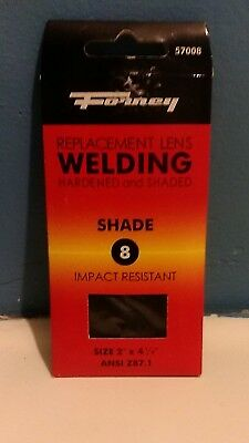 Forney Replacement Welding Lens Hardened And Shaded 8