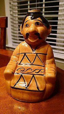 Vintage Mexican Man Ceramic Tequila Decanter Poncho Liquor Bottle