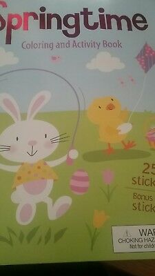 Springtime Activity - Springtime, 259 stickers, coloring and activity book w/box of 24 crayons