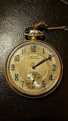 Elgin Director Pocket Watch 14k double stock gold filled case 12size 17 jewels