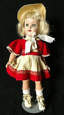 """Vintage IDEAL Toni 15"""" doll P-91 in original ice skating outfit tag missing"""