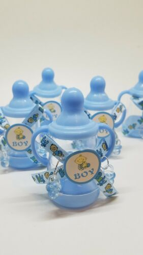 12 Fillable Bottles For Baby Shower Favors Blue Party Decora