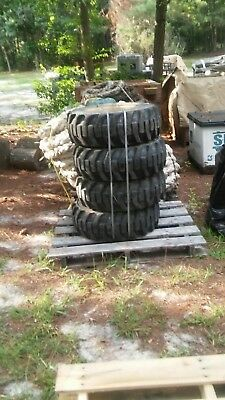 4 10x16.5 Used Skid Steer Tires -10-16.5-8 Ply- For Bobcat Galaxy Local Pick Up