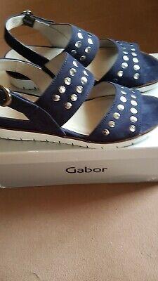 Gabor Shoes Damen Sandalen mit Nieten  Gr. 40  UK 6,5 neu – blau / bluette