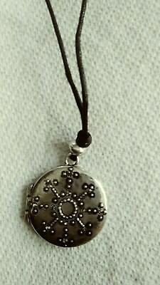 Snowflake Locket Necklace by j jill muted silver locket NWT for sale  Fords