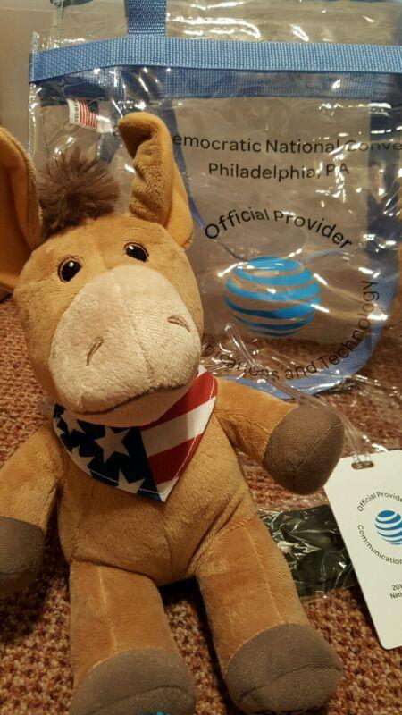 2016 Democratic National Convention AT&T Gift Bag, Plush Donkey, Luggage Hillary