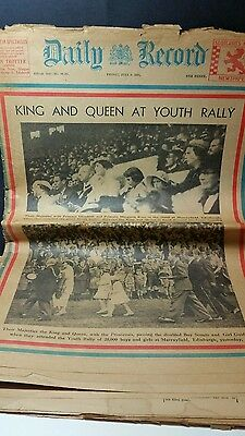 1937 Daily Record Scotlands National Newspaper