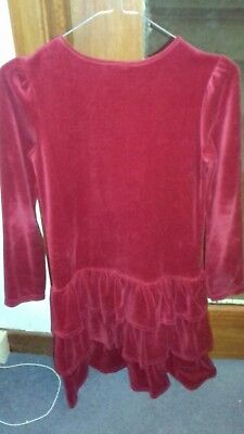 Girls Gymboree Party Dress - Red  cotton VELVET Gorgeous  ...Age 12