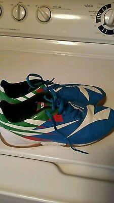 1e50b7724 Diadora DD_NA2 R Indoor Soccer Shoes US 71/2 Multi Color Blue Green Red  White