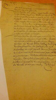 1653 Wittenberg Dokument/Schriftsatz/Vertrag auf Buettenpapier - Original