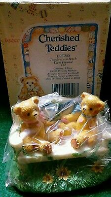Cherished Teddies CRT240 Two Bears On A Bench