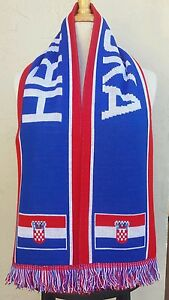 Hrvatska Soccer Scarf ~ Country of Croatia  Scarf  Croatia World Cup