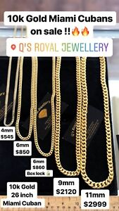 10k gold chains on sale!!