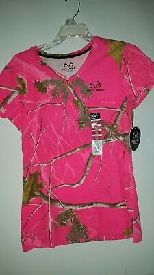 NWT REAL TREE -APC Woman's SHORT Sleeve PINK Tee Shirt Size SMALL (4-6)