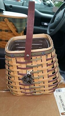 Longaberger Heritage Day Basket With Liner, Protector, And Tie On 2006
