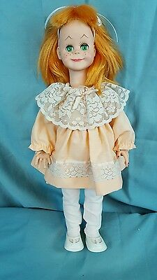 "16"" Vogue Brikette Doll Green Flirty Eyes Orange Hair TLC"