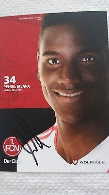 Autogrammkarte Peniel Mlapa 1. FC Nürnberg Saison 2014/2015
