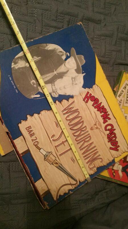 Vintage,1950,Electric Wonder Pen,Wood Burning hopalong Cassidy western