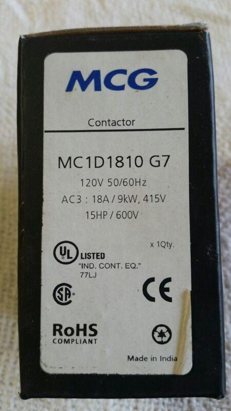 MCG CONTACTOR 120 volt coil / 18 AMP