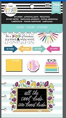 Happy Planner Card Sticker Note Student All The Cool Kids Are Kind Kids 366 Pc