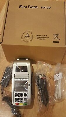 New  First Data Fd130 Emv Nfc  Dial Ip  Credit Card Machine  Ready To Download