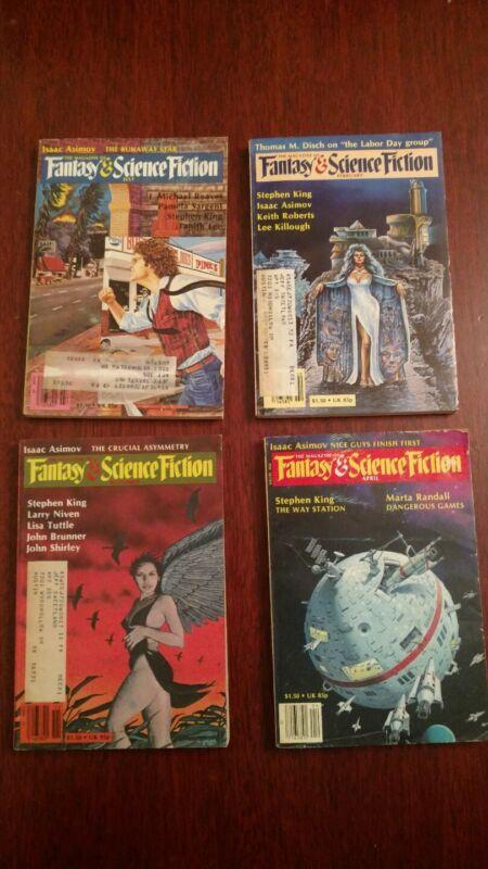 4 ORIGINAL DARK TOWER STORY PUBLICATIONS Stephen King MAGAZINE OF FANTASY AND SF