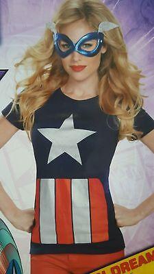 Kostüme Adult T Shirt Tee (Superhero Tee Adult Costume T-Shirt & Mask Halloween  Size Medium (8-10))