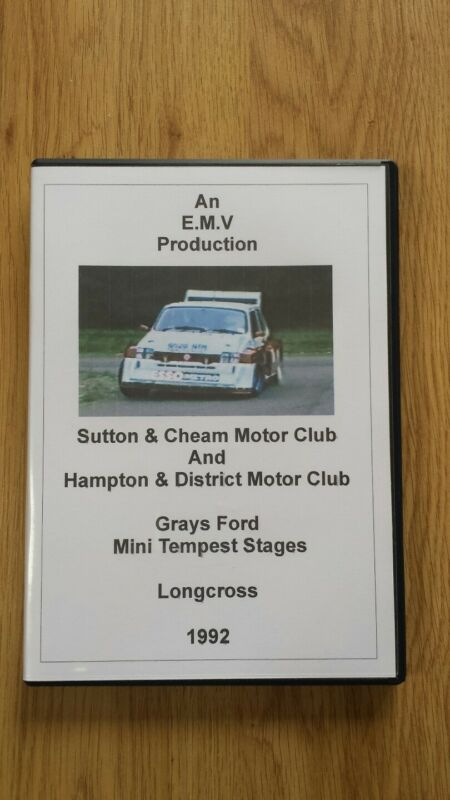 1992+Grays+Ford+Mini+Tempest+Stages+Rally+DVD+Longcross+