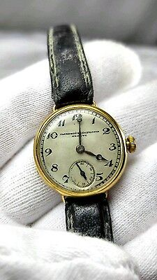 ANTIQUE Solid 18k 750 GOLD VACHERON & CONSTANTIN JN LADY'S WRISTWATCH 1920's