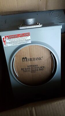 Milbank U8435-xl-tg-hsp Ringless Single Position Meter Socket 600 Volt Ac