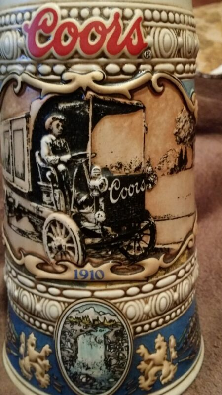 Adolph Coors Co. Golden Colorado Stein Mug Beer Truck 1910 Made In Brazil 1989
