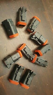 10 Pack Amphenol At06-2s 2-way At Connector Plug Dt06-2s Compatible. Bx1