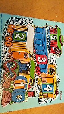 USED 1974 vintage puzzle 5p Playskool Muppet Sesame Street cookie monster Ernie