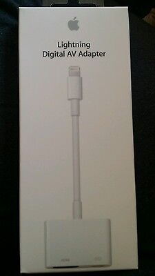 APPLE Lightning Digital AV Adapter   - Authentic- Free Shipping!!!