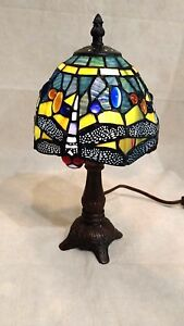 Dragonfly Stained Glass Accent Lamp