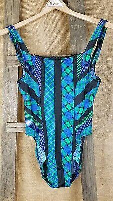 Vintage Electric Beach by Jantzen swimsuit one piece build in bra