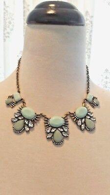 Gorgeous Joss   Main Green Wintergreen Bib Necklace W  Anthropologie Flair