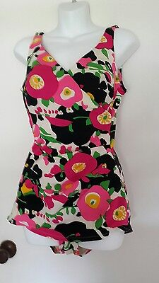 Womens Vintage Perfection Fit by Roxanne One Piece Swimsuit sz 16/38