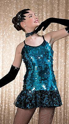 NEW!  STUNNING TURQUOISE DANCE JAZZ SALSA COSTUME ~ 1 AVAILABLE ~ MA