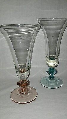 2 Eispokale  Dessert Eisbecher Cocktail Glas Pokale Füllhorn VENEZIA  Horn Dessert